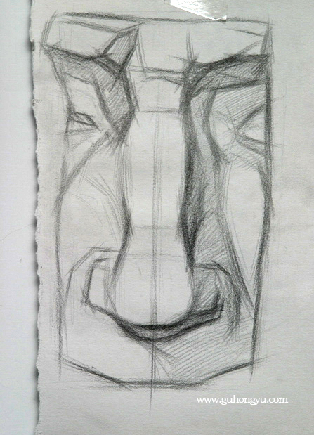 结构素描-石膏五官